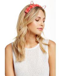 Noir Jewelry - Flower Crown Cat Ear Headband - Lyst