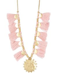 Lucky Brand - Fringe Statement Necklace - Lyst