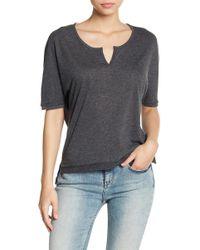 Alternative Apparel - Split Collar Knit Tee - Lyst