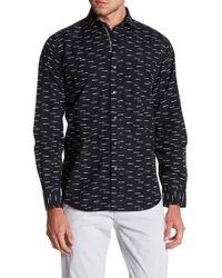 Bugatchi - Print Shaped Fit Shirt - Lyst