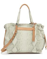 Liebeskind Berlin - Ella Snake Embossed Leather Tote - Lyst