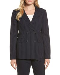 Halogen - Double Breasted Stretch Blazer (petite) - Lyst