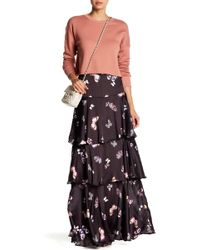 ARRIVE - Layla Print Tiered Maxi Skirt - Lyst