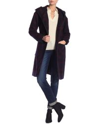 Lucky Brand - Hooded Plaid Coat - Lyst