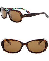 Kate Spade - Darya 55mm Rectangle Sunglasses - Lyst