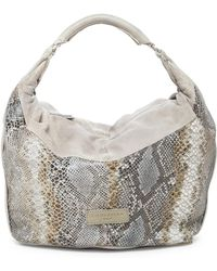 Liebeskind Berlin - Tumba Oversized Snake Embossed Leather Hobo - Lyst