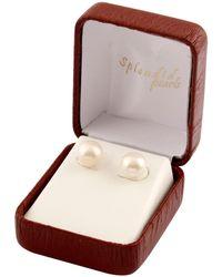 Splendid - 9-9.5mm White Cultured Freshwater Pearl Bridesmaid Stud Earrings - Lyst