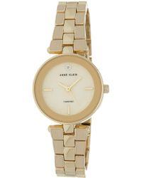 Anne Klein - Women's Round Case Gold-tone Bracelet Watch, 28mm - Lyst