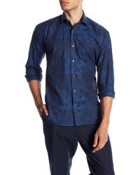 Maceoo - Blue Paisley Modern Fit Shirt - Lyst