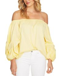 Cece by Cynthia Steffe - Off-the-shoulder Balloon Sleeve Blouse - Lyst