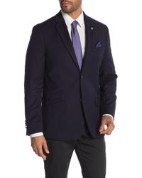 Ben Sherman - Navy Tonal Diamond Two Button Notch Lapel Sport Coat - Lyst