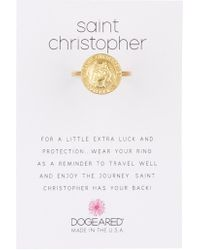 Dogeared - Saint Christopher Ring - Lyst