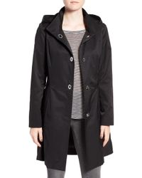 Cece by Cynthia Steffe - 'ellie' Turn Key Raincoat With Detachable Hood - Lyst