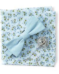 Original Penguin - Denton Solid Bow Tie, Pocket Square, & Lapel Pin Set - Lyst