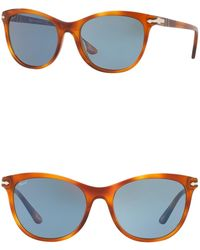 33722948ea Persol - 54mm Cat Eye Sunglasses - Lyst