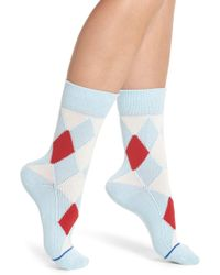 Paul Smith - Finella Argyle Crew Socks - Lyst