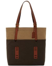 Fossil - Defender Canvas Tote - Lyst