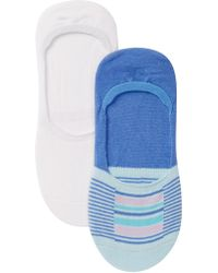 Hue - High Cut Sock Liners - Pack Of 2 - Lyst