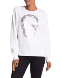 Zadig & Voltaire - Metallic Skull Print Sweatshirt - Lyst