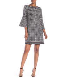 Max Studio - Lantern Sleeve Printed Dress - Lyst