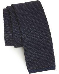 Eleventy - Knit Wool Tie - Lyst