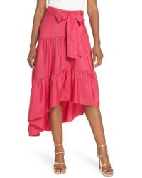 Eliza J - Tiered High/low Skirt - Lyst