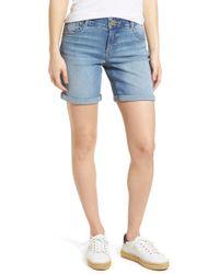 Wit & Wisdom - Ab-solution Denim Bermuda Shorts (regular & Petite) (nordstrom Exclusive) - Lyst