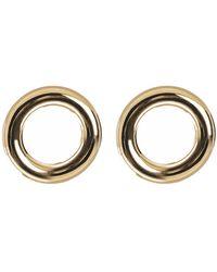 Eklexic - Thick Medium Circle Earrings - Lyst