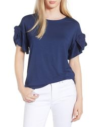 Gibson - X Hi Sugarplum! Kahala Tie Sleeve Top (regular & Petite) (nordstrom Exclusive) - Lyst
