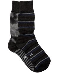 Frye - Striped Cushioned Crew Socks - Pack Of 2 - Lyst