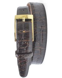 Martin Dingman - Joseph Genuine American Alligator Leather Belt - Lyst
