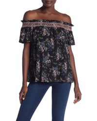 af4390722a2 Lyst - Cece by Cynthia Steffe Gingham Off-the-shoulder Top in Blue