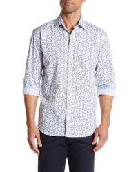 Bristol & Bull - Long Sleeve Floral Print Classic Fit Sport Shirt - Lyst