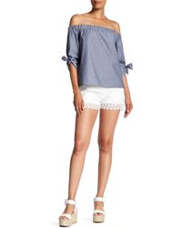 Romeo and Juliet Couture - Crochet Short - Lyst