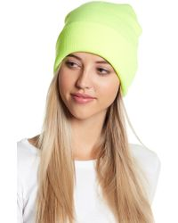 Berry - Solid Neon Yellow Beanie - Lyst