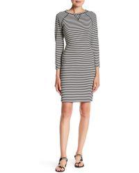 Philosophy Apparel - 3/4 Length Raglan Sleeve Stripe Dress - Lyst
