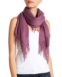 Roffe Accessories - Crinkle Fringe Wrap Scarf - Lyst