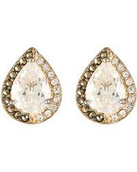 Judith Jack - Sterling Silver Marcasite & Cz Teardrop Stud Earrings - Lyst