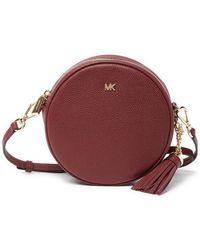 Lyst - MICHAEL Michael Kors Lupita Medium Leather Messenger Bag in Black 70d9931570