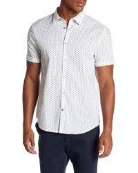 John Varvatos - Short Sleeve Polka Dot Slim Fit Shirt - Lyst