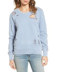 Sincerely Jules - Destroyed Cotton Sweatshirt - Lyst