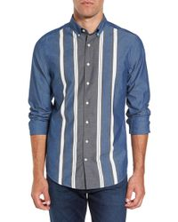 Gant | Tech Slim Fit Varsity Stripe Sport Shirt | Lyst