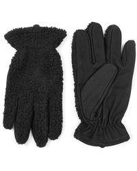 TOPMAN - Mixed Media Gloves - Lyst