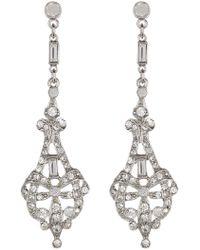 Ben-Amun - Pave & Bezel Set Crystal Deco Chandelier Drop Earrings - Lyst