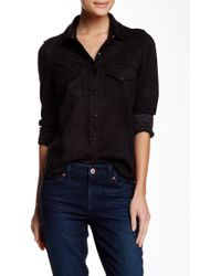 Level 99 - Heather Faux Suede Western Shirt - Lyst