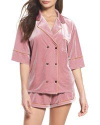 Chelsea28 - It Takes Two Velvet Pyjamas - Lyst