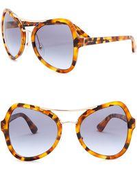 Prada - Catwalk 55mm Butterfly Sunglasses - Lyst