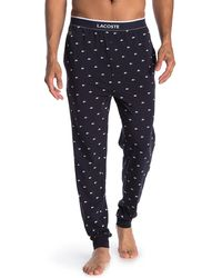 Lacoste Printed Sweatpants - Blue