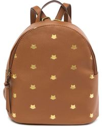 T-Shirt & Jeans - Metallic Cat Printed Backpack - Lyst