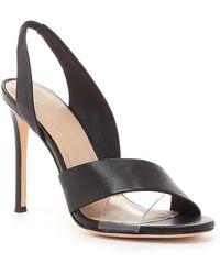 Pour La Victoire - Elly Leather Slingback Heeled Sandal - Lyst